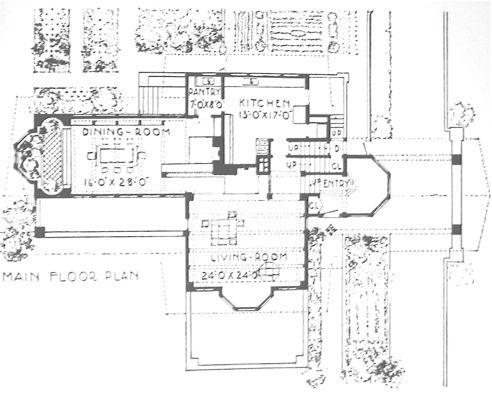 The B. Harley Bradley House 1900, Frank Lloyd Wright