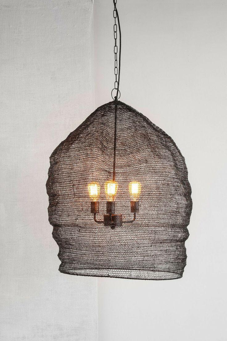 Rustic Mesh Lamp Lighting Lightbulb Chandelier