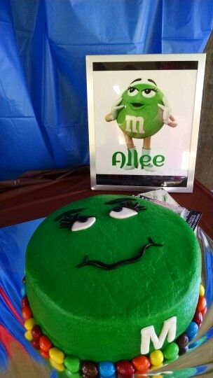 Green mm Cake Cakes we have made Pinterest Cake