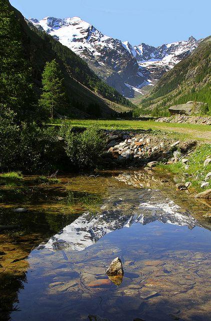 Un parco grande per divertenti. Quello e parco del Gran Paradiso, in Val 'Aosta, Italy