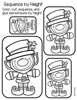 St. Patrick's Kindergarten Math Activities and Worksheets