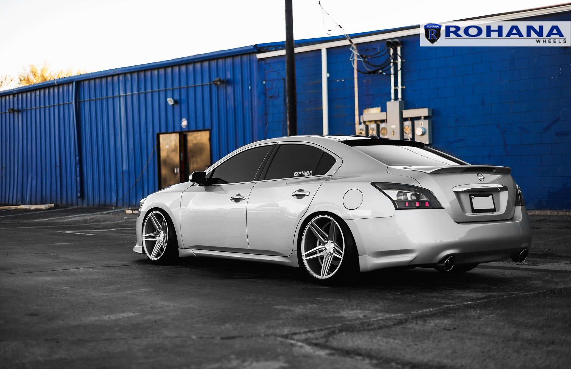Stanced Nissan Maxima On Rohana Rc 8 Custom Wheels Nissan Maxima Custom Wheels Nissan