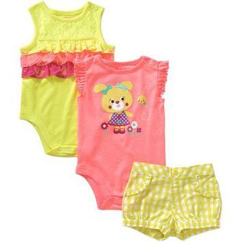 Walmart Baby Girl Clothes Entrancing Garanimals Newborn Baby Girl Bodysuit And From Walmart  Baby Girls Design Ideas