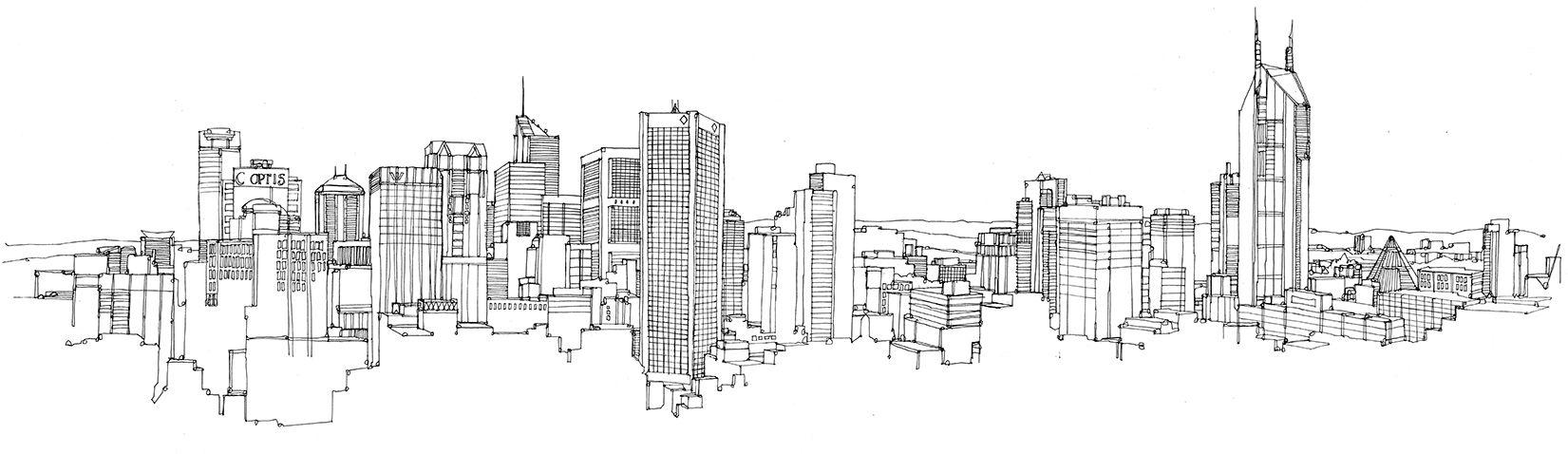 Picture Book Illustration Making An Architectural Model: Melbourne-pen.jpg (1651×478)