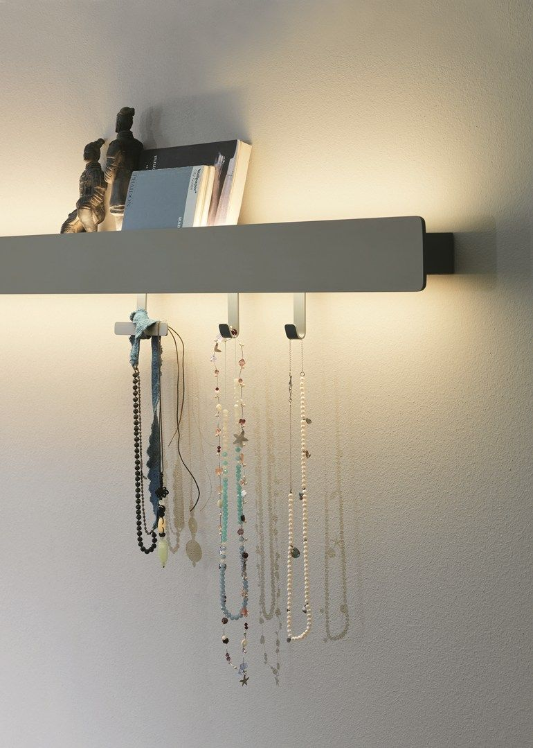 Wall shelf with integrated lighting GROOVE | Wall shelf by Caccaro