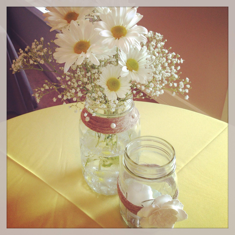 Pin By Lee Horst On Reception Flowers Wedding Centerpieces Mason Jars Table Arrangements Wedding Mason Jar Wedding