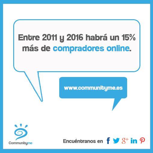 Entre 2011 y 2016 habrá un 15% más de compradores online