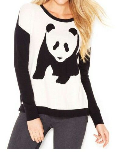 Blue and white panda sweater/ jumper