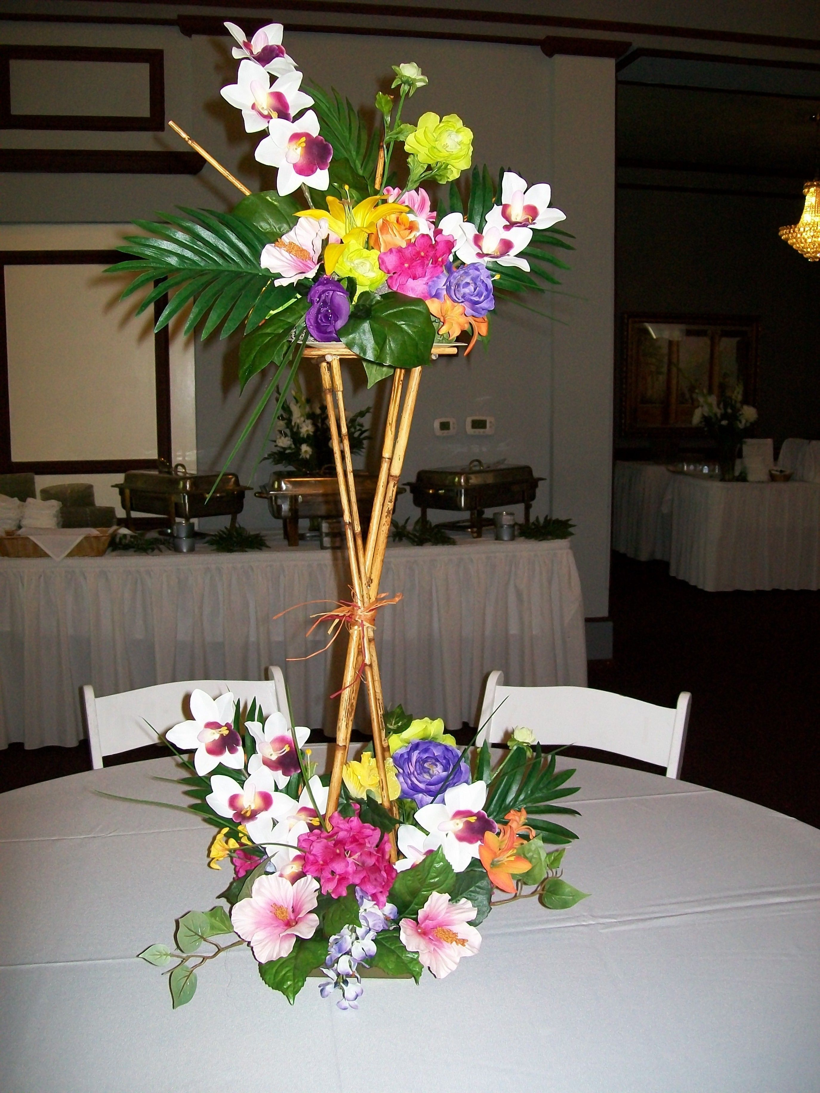 Tropical Centerpiece Luau Table Decorations Hawaiian Luau Party Luau Decorations
