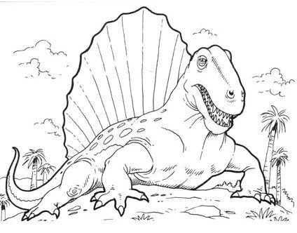 Dimetrodon Dinosaur Coloring Page Dimetrodon Is An Extinct Genus Of Synapsid That Lived Duri Animal Coloring Pages Dinosaur Coloring Pages Dinosaur Coloring