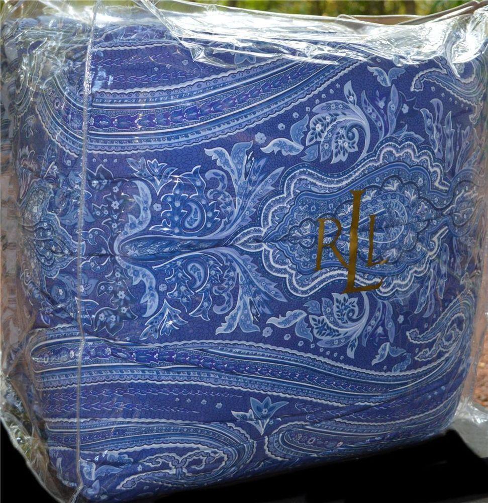 Details About Ralph Lauren Putney Paisley Blue Reversing