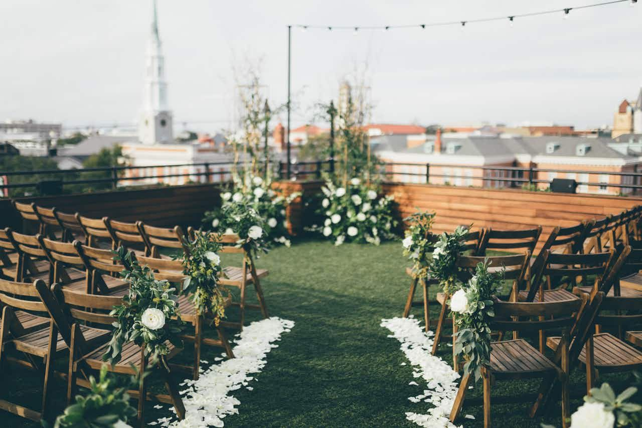 An Elegant Rooftop Wedding at Perry Lane Hotel