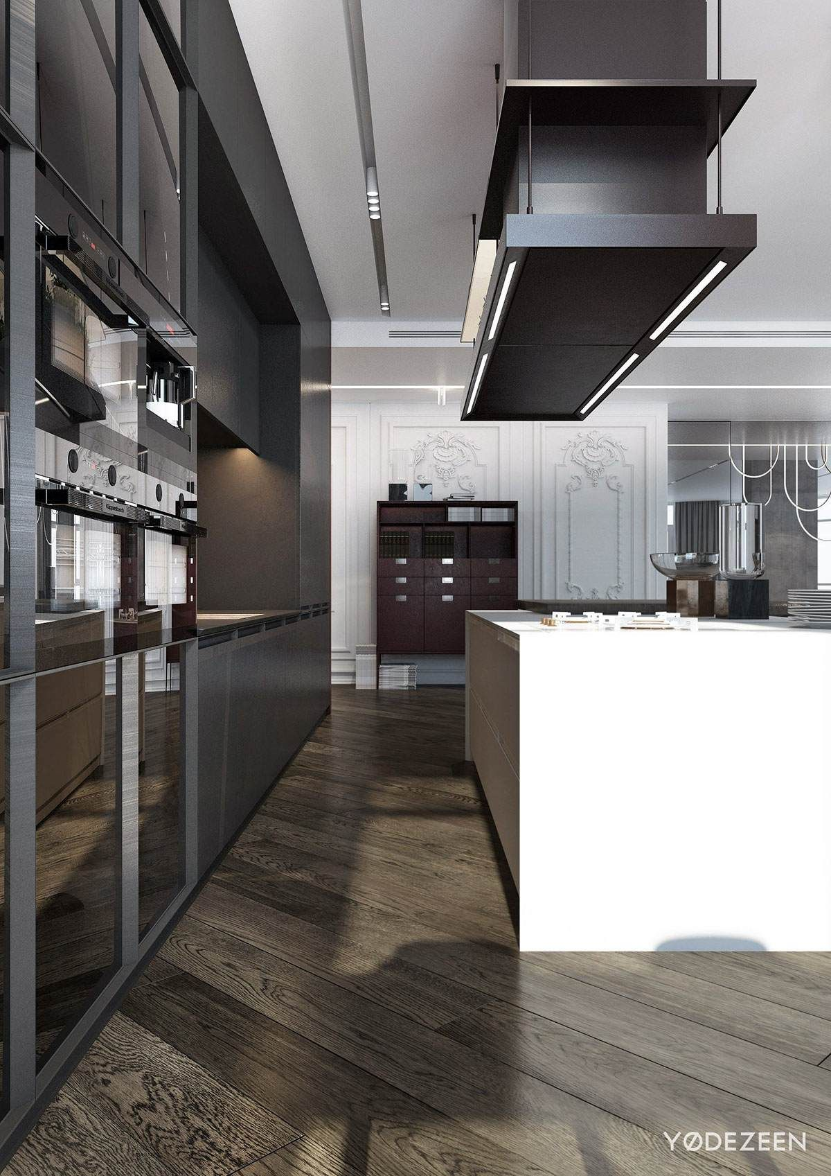 Contemporary Kitchen Interior Design: A Modern Apartment With Classical Features