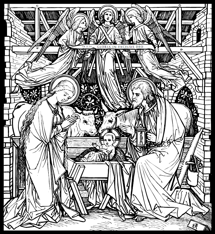 Line Drawing Nativity : The ascended masters of light catholic art adult