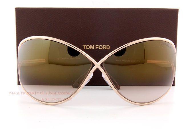 27439e482cb1 Brand New Tom Ford Sunglasses TF 0130 130 Miranda 28G Gold Brown For Women  in Clothing