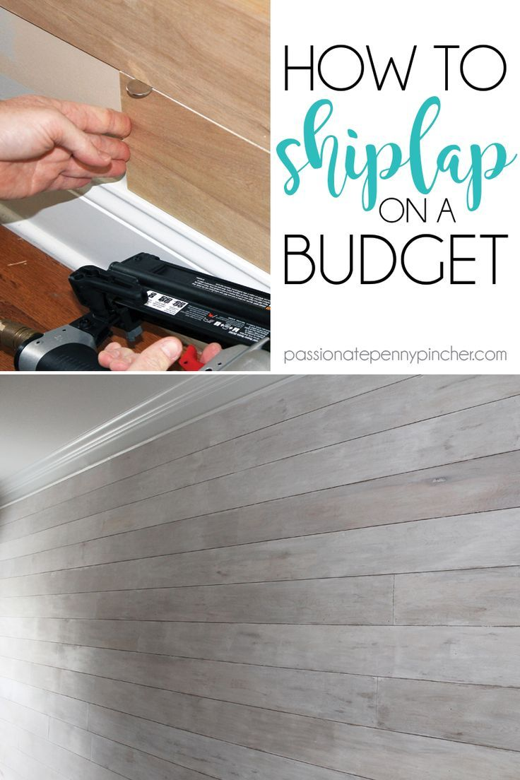 How To Shiplap On A Budget