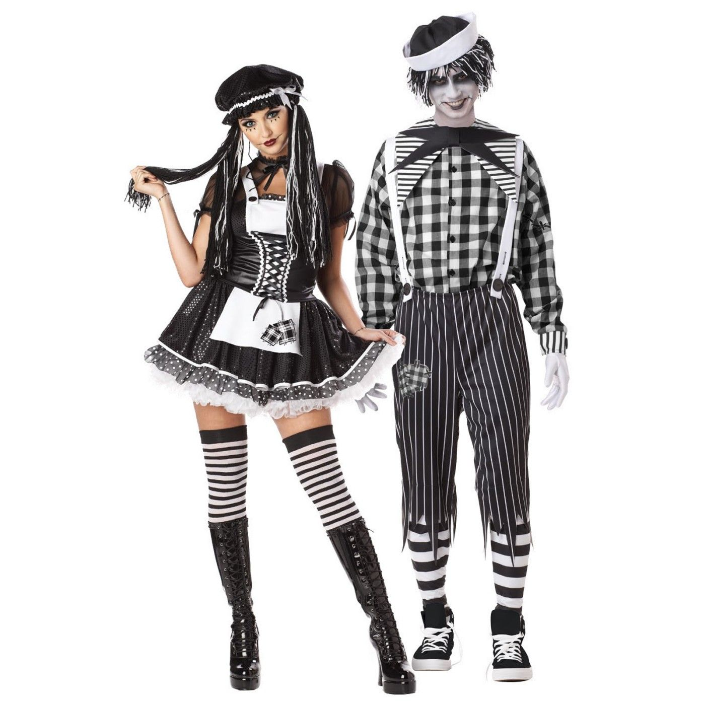 Gothic Couple Andy Adult Costume for Halloween Couple