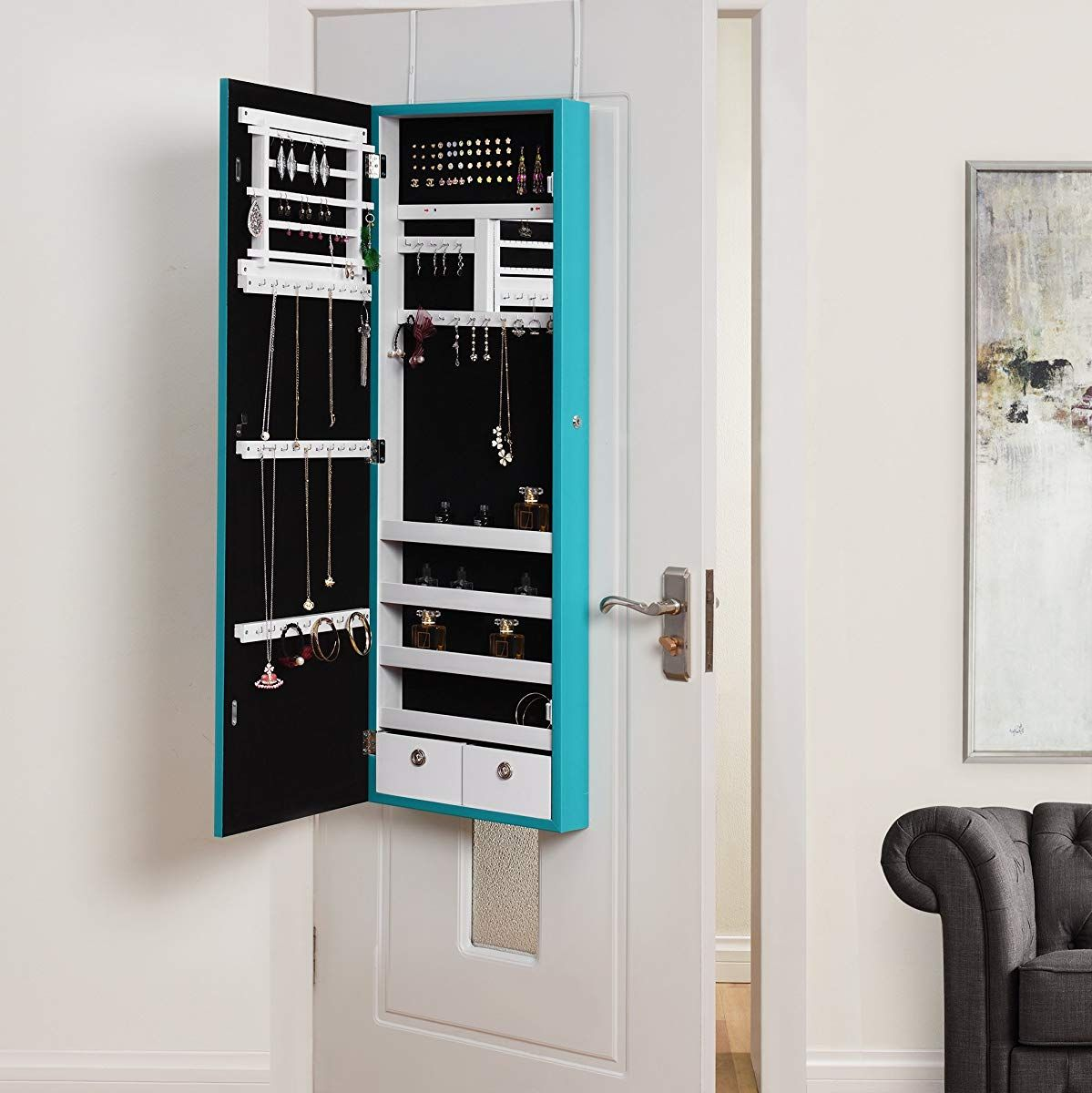 Inspired Home Julie Full Length Over-the-Door/Wall Mounted ...