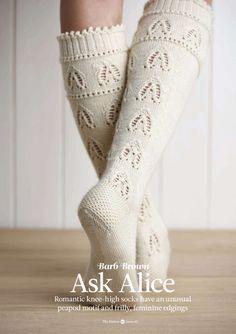 гольфы белые алиса в стране чудес вязание Knitting Socks Socks