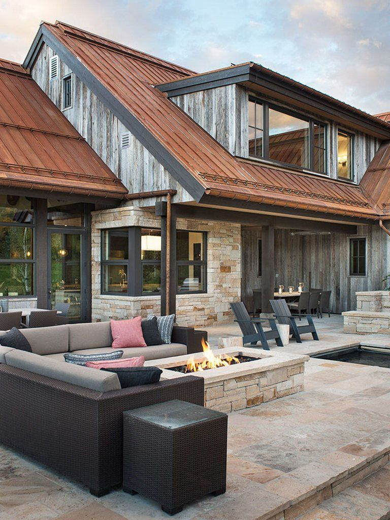 Mountain farmhouse home decor ideas 17 #mountainhomes