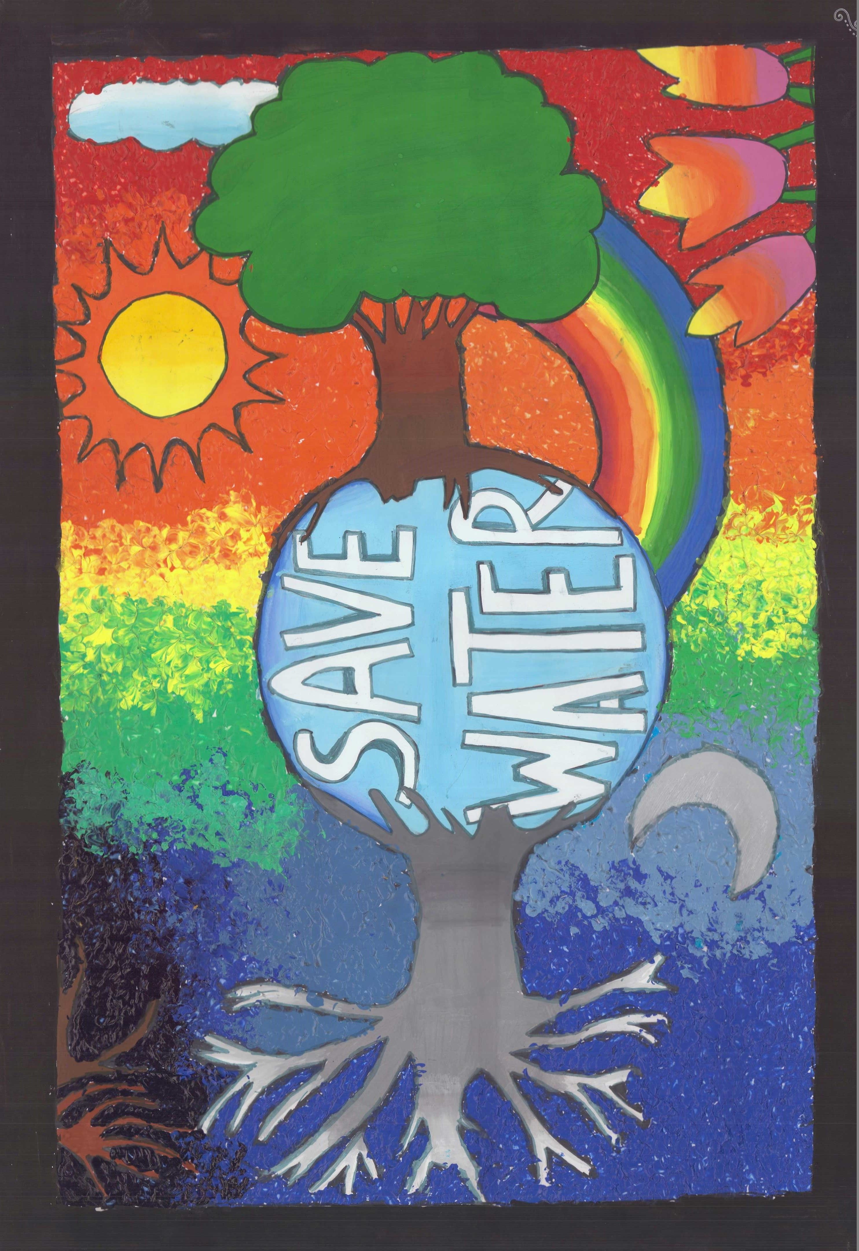 Poster on water conservation by nayak miti bhadreshkumar for Save energy painting