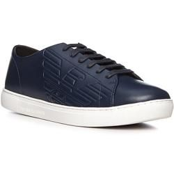 Emporio Armani Sneakers Herren, Glattleder, blau ArmaniArmani