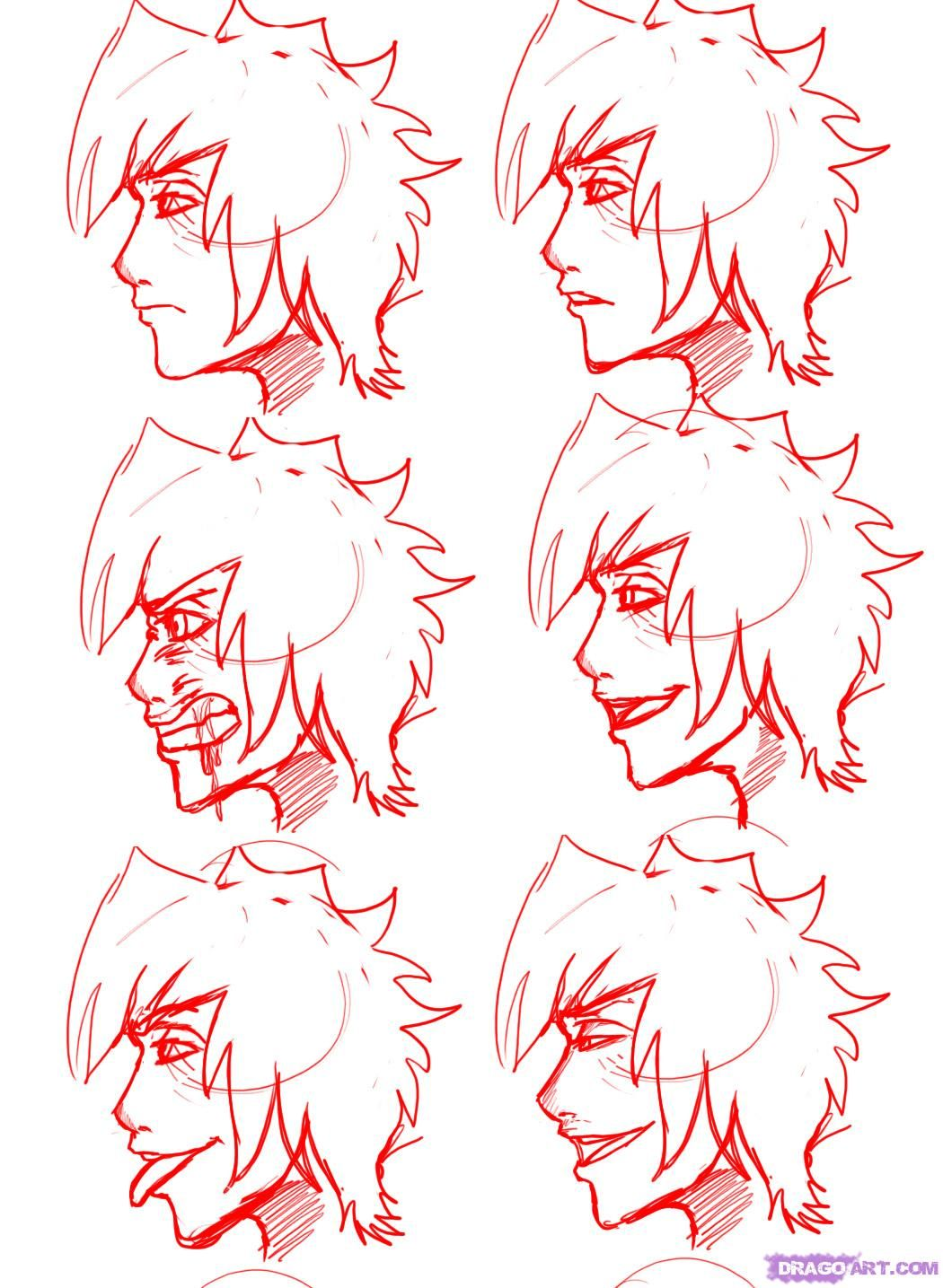 How To Draw Profile Faces And Mouths Side View by Dawn
