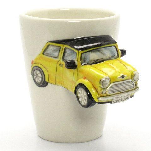 Yellow Austin Mini Cooper Mug Classic Mini Cooper Car Original ...