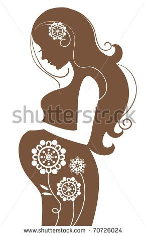 2a0bafb86 Pregnant woman in flowers - stock vector Mujer Embarazada Animada
