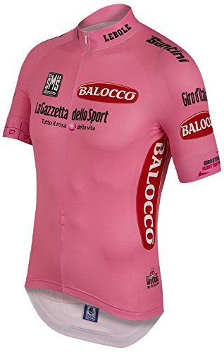Santini General Time Jersey Short Sleeve Mens Pink L Be Sure