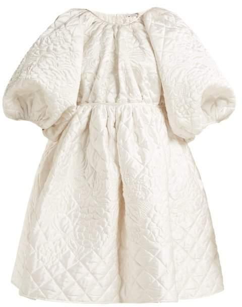 63aba1f28b40 Cecilie Bahnsen - Ava Quilted Silk Mini Dress - Womens - White ...