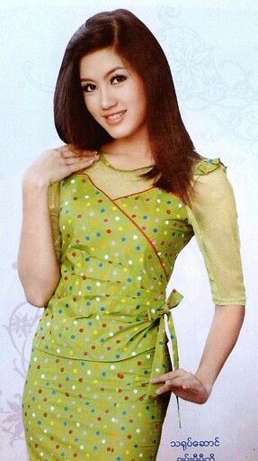 Myanmar traditional dress with chan me me ko my creations myanmar traditional dress with chan me me ko thecheapjerseys Images