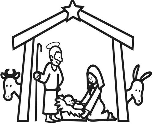 Weihnachten Im Stall Von Bethlehem Zum Ausmalen Malvorlagen Weihnachten Jesus Malvorlagen Ausmalen