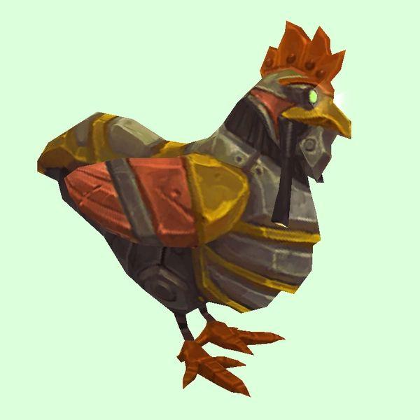 GoldOrange Mechanical Chicken Character art, Art