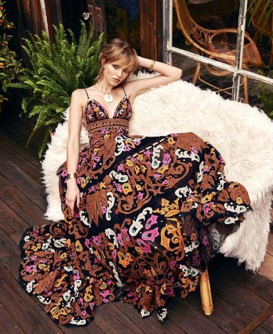 "Sasha Luss in ""The New Bohemian"" for Harper's Bazaar, March 2015"
