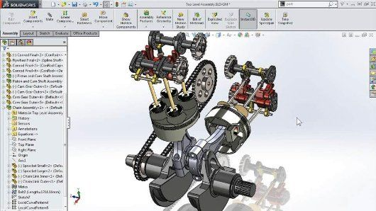 Modeling a Motorcycle Engine with SOLIDWORKS   Motorcycle ...