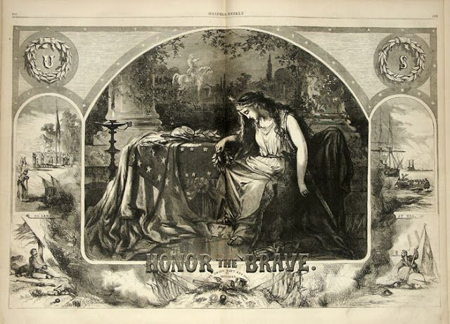 Thomas Nast Honor The Brave Harper S Weekly October 24 1863 In The Swan S Shadow Lady Liberty Historical Illustration Art Society