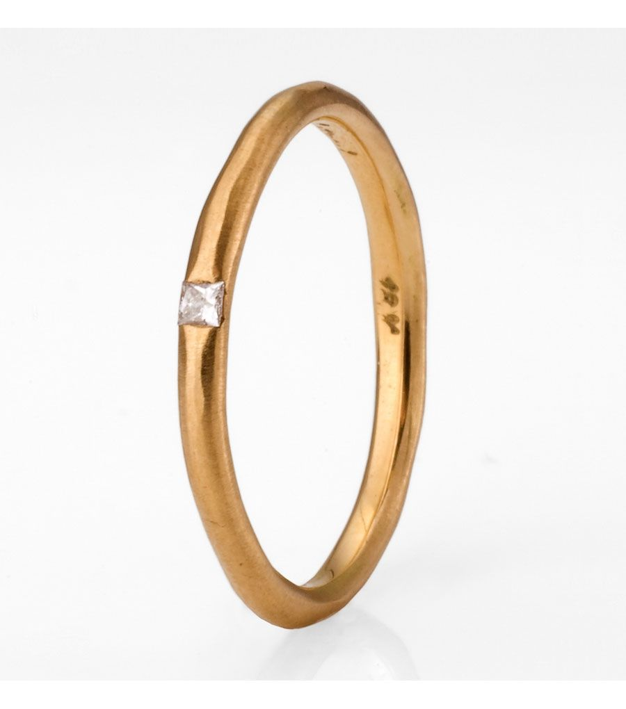 Perfect for those who want to keep it sweet and simple. A band that she will never tire of. Can be a great stacker or anniversary ring.