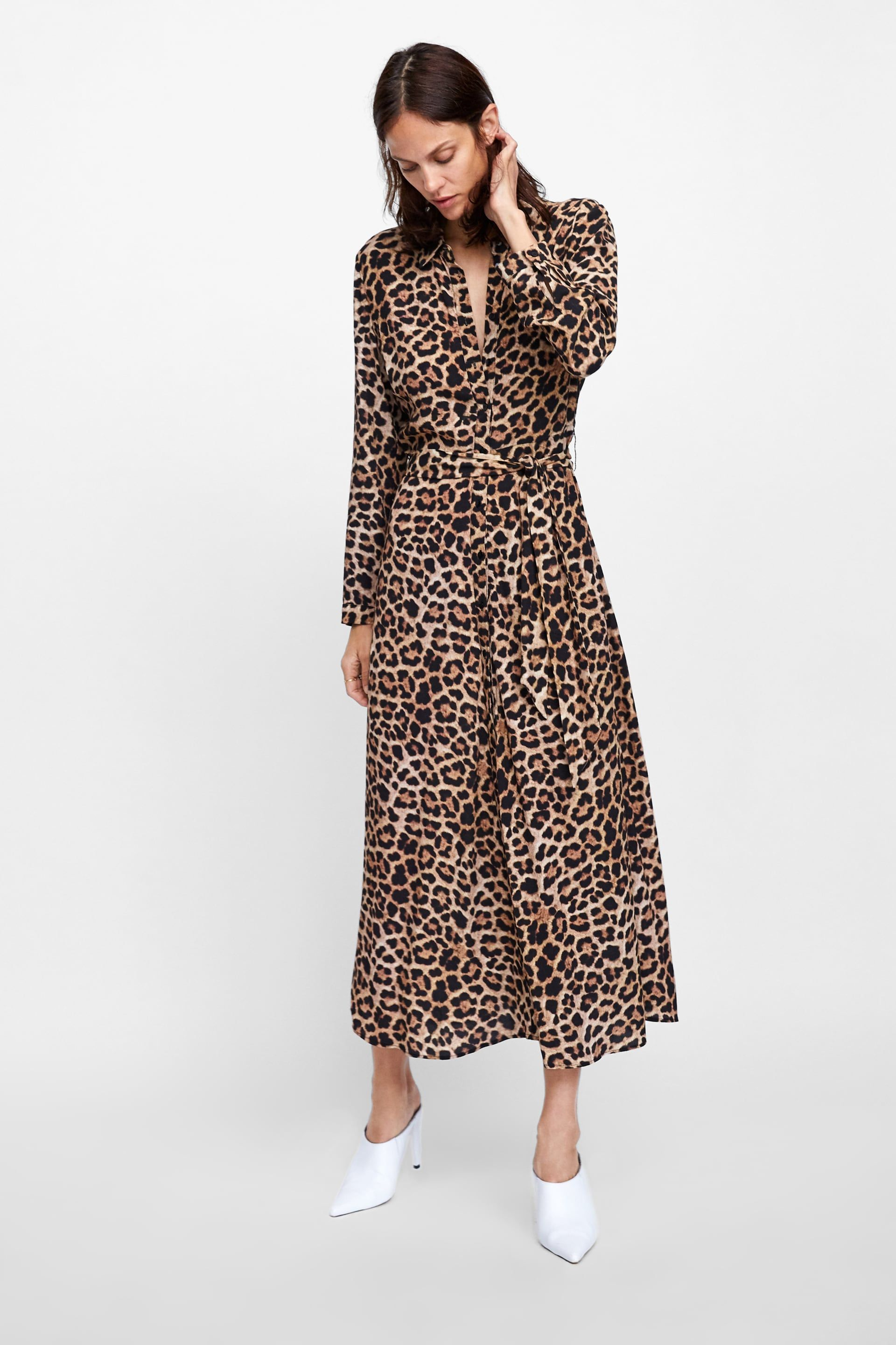 ea25da9f Image 5 of LONG ANIMAL PRINT DRESS from Zara | Work Clothes | Animal ...