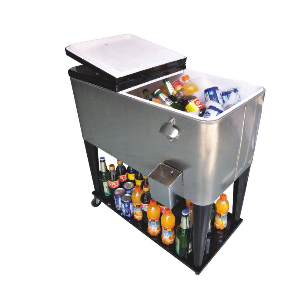 80 Qt. Stainless Steel Patio Cooler Cart From Jinhua Dongrun Tools Co.,