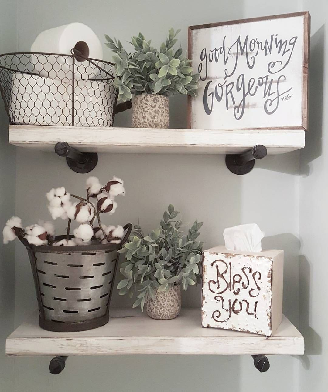 Powder Room Wall Decor Fascinating See This Instagram Photoblessed_Ranch  1396 Likes  Master Inspiration