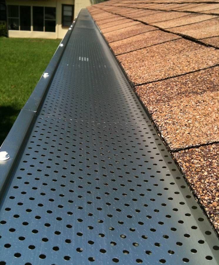 Leaf Guards Leaf Guard Perforated Metal Gutters