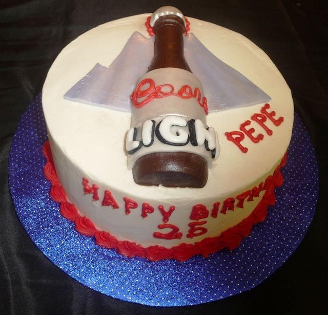 Male adult birthday cakes gallery cake ideas justin 25th for Adult birthday cake decoration