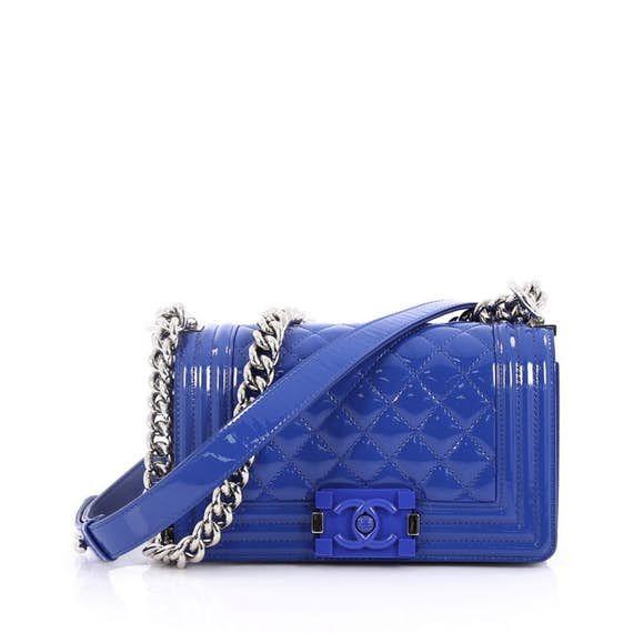 94caa229a444f1 Chanel Boy Flap Bag Quilted Plexiglass Patent Small | c h a n e l ...