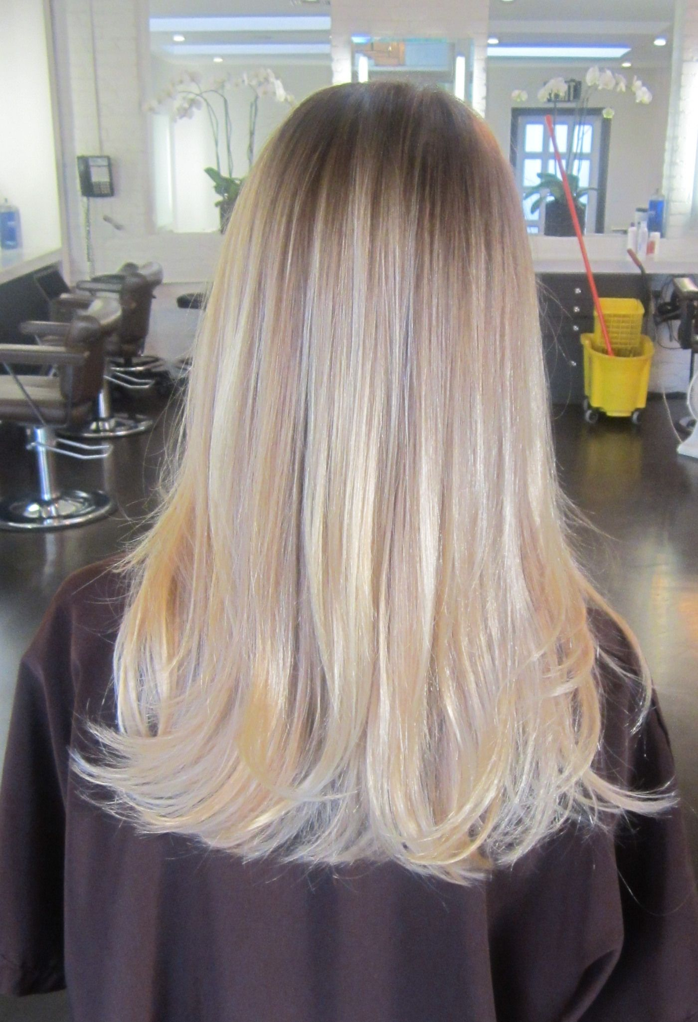 Light Ash Blonde with a hint of Violet