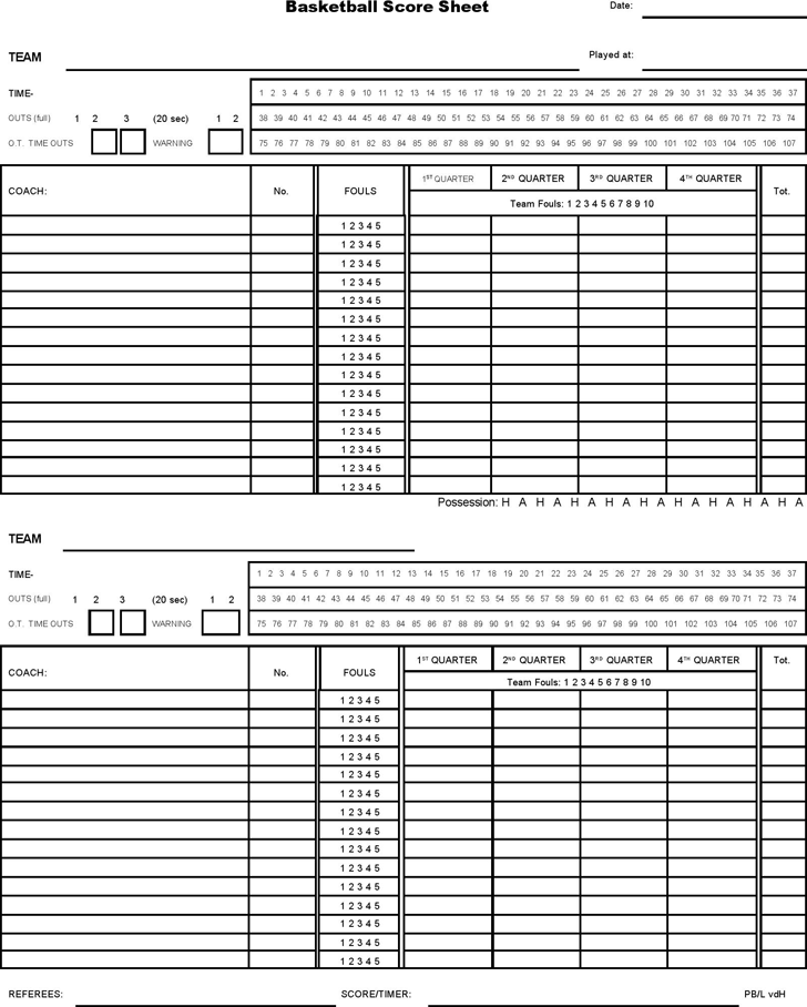 5 Basketball Score Sheet Templates Word Excel Templates Excel Templates Templates Bunco Score Sheets