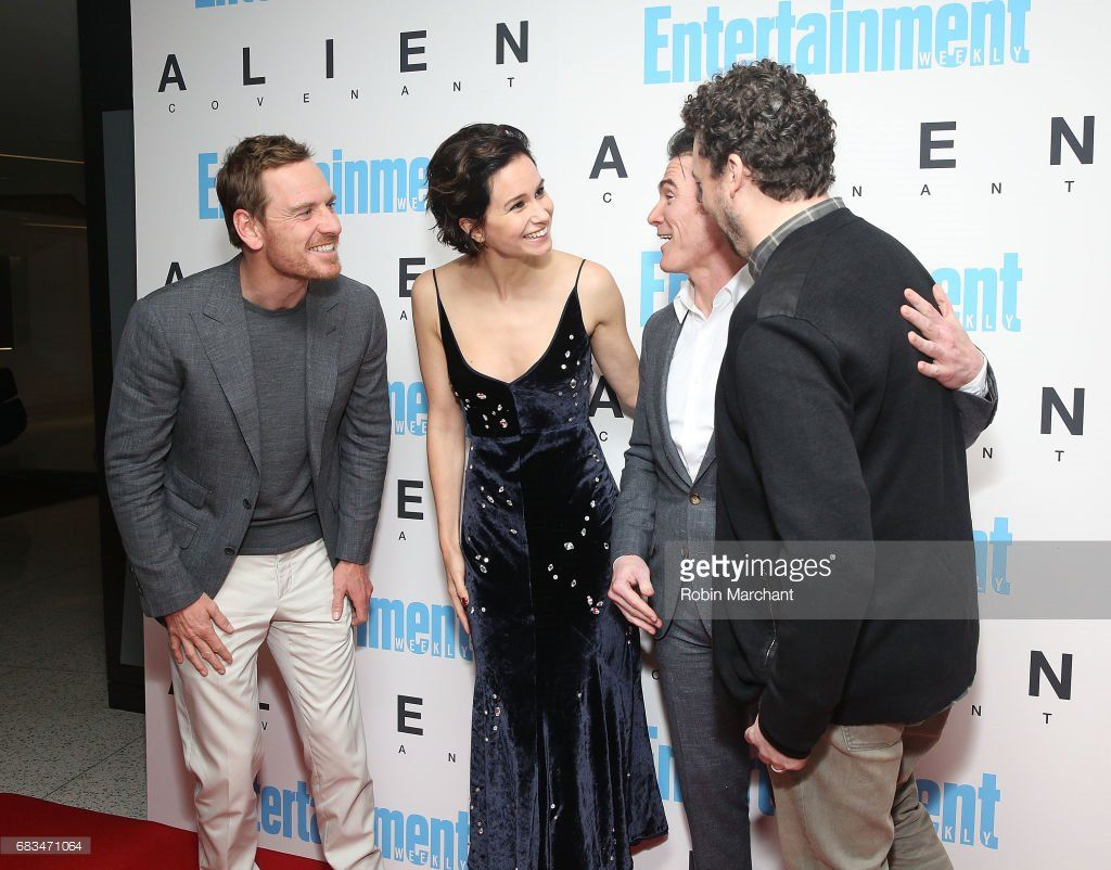 Michael Fassbender, Katherine Waterston, Billy   Crudup, and Danny McBride at Alien: Covenant'   screening, New York - May 15, 2017