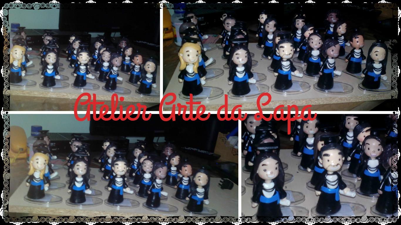 Lembrancinha de biscuit formandos #Formandos #AtelierArtedaLapa