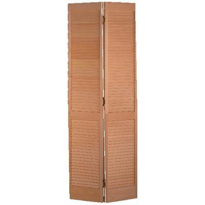 masonite - porte pliante persienne complète pin clair 24 po x 80