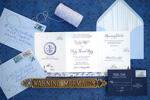 ► Invitaciones de boda náuticas. #invitaciones #bodas